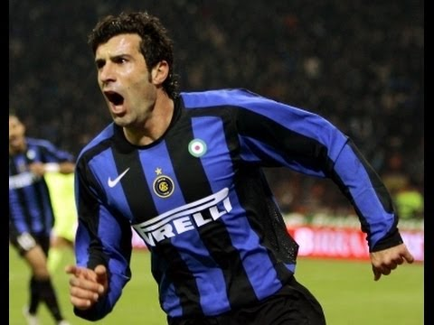 luis figo - goal and fantastic skills in fc internazionale