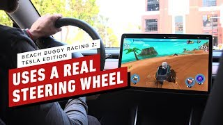 New Tesla Racing Game Uses Real Car's Steering Wheel and Pedals by IGN