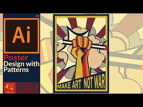 Poster Design Using Patterns In Adobe Illustrator CC | Modern Propaganda Style