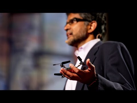 mit Robot Electronics Autonomy - http://www.ted.com In his lab at Penn, Vijay Kumar and his team build flying quadrotors, small, agile robots that swarm, sense each other, and form ad hoc te...