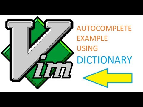 vim auto complete using dictionary example