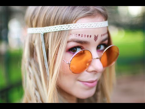 Hippie Hair & Makeup Tutorial - SÉRIE CARNAVAL | Alice - Golden Locks
