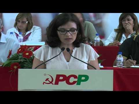 8ªASSEMBLEIA PCP ÉVORA: HORTÊNCIA MENINO APRESENTOU A MOÇÃO 'O PODER LOCAL DEMOCRÁTICO ESTÁ EM RISCO ?'