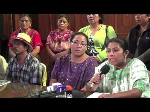 Conferencia de prensa contra el cambio climático y los monocultivos 2015
