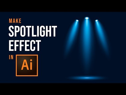 How To Make Vector Spotlight Effects - Adobe Illustrator Tutorial