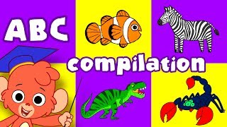 Video Animal ABC   learn the alphabet A to Z with cartoon animals   ABCD video compilation for kids MP3, 3GP, MP4, WEBM, AVI, FLV Juli 2018