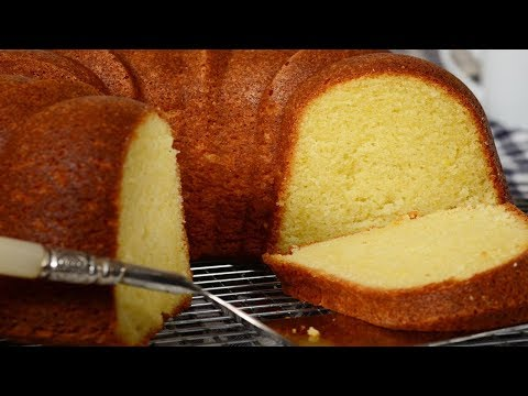 Cream Cheese Pound Cake Recipe Demonstration - Joyofbaking.com