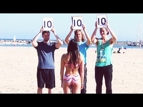 Rating People on the Beach - These Guys Have Balls!