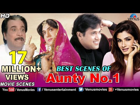 Download Best Scenes Of Aunty No.1 | Govinda Movies | Raveena Tandon | Best Bollywood Comedy Scenes hd file 3gp hd mp4 download videos