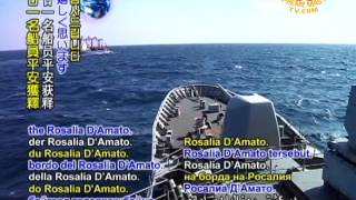 Italian ship freed off coast of Somalia. More than seven months after the Rosalia D'Amato was detained during a journey from Brazil to Iran, the ship and her 21-person crew were released on Friday, November 25. An Italian Navy vessel in the area sent teams to board the freed vessel, where it was confirmed that all six Italian and 15 Philippine crew members were safe and well. We are grateful for the peaceful freedom and well being of the 21 sailors aboard the Rosalia D'Amato. Wishing them many joy-filled reunions with loved ones as we pray for a world where all may enjoy safe journeys across the open seas.
