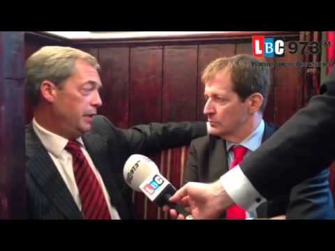 LBC – UKIP Nigel Farage and Alastair Campbell On Alcohol Abuse, Oct 2013