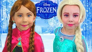 Video Frozen Elsa And Anna - HOW TO turn into character? MP3, 3GP, MP4, WEBM, AVI, FLV Juni 2019
