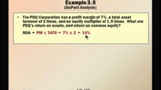 Financial Management: Lecture 17, Chapter 3: Part 2 - Working With Financial Statements (Cont.)