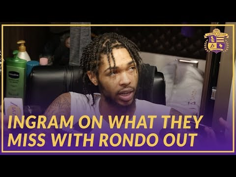 Video: Lakers Interview: Brandon Ingram on What The Team Will Miss With Rajon Rondo Out