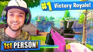 FIRST PERSON in Fortnite: Battle Royale! (PREVIEW)