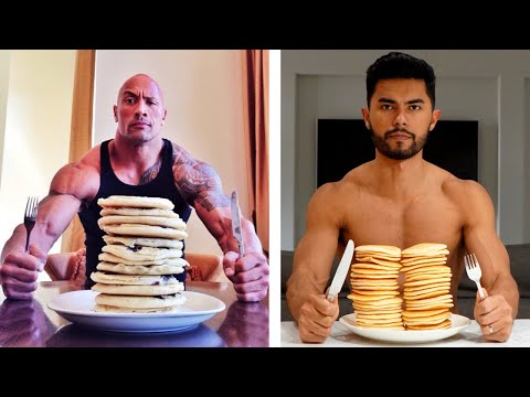 I Trained & Ate Like The ROCK For 24 Hours