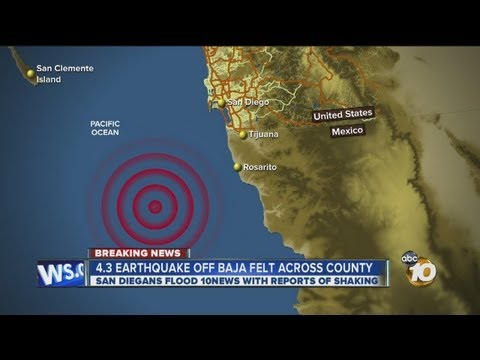 4.3 magnitude earthquake felt in San Diego County