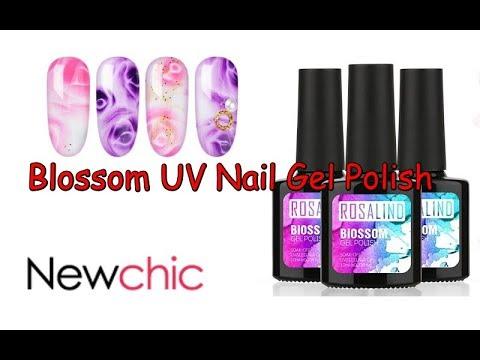 Gel nails - Newchic Review  Blossom UV Nail Gel Polish  Easy Nail Art Desings  #16