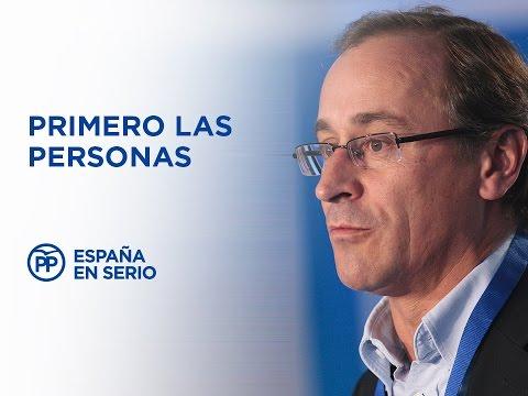 Alfonso Alonso presenta el bloque #PrimeroLasPersonas del programa electoral