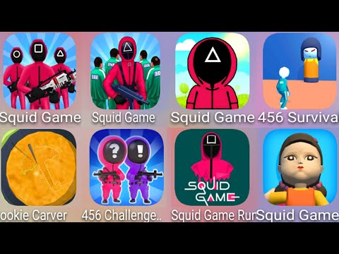 The Squid Game 3D,The Squid Battle Game 3D,Squid Game Survival 3D,456 Survival Game,Cookie Carver...