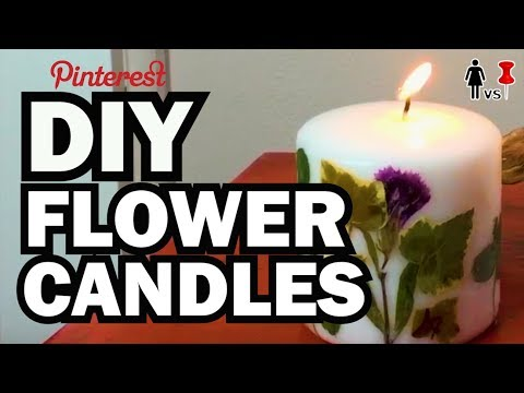 DIY Pressed Flower Candles, Corinne VS Pin #26 видео