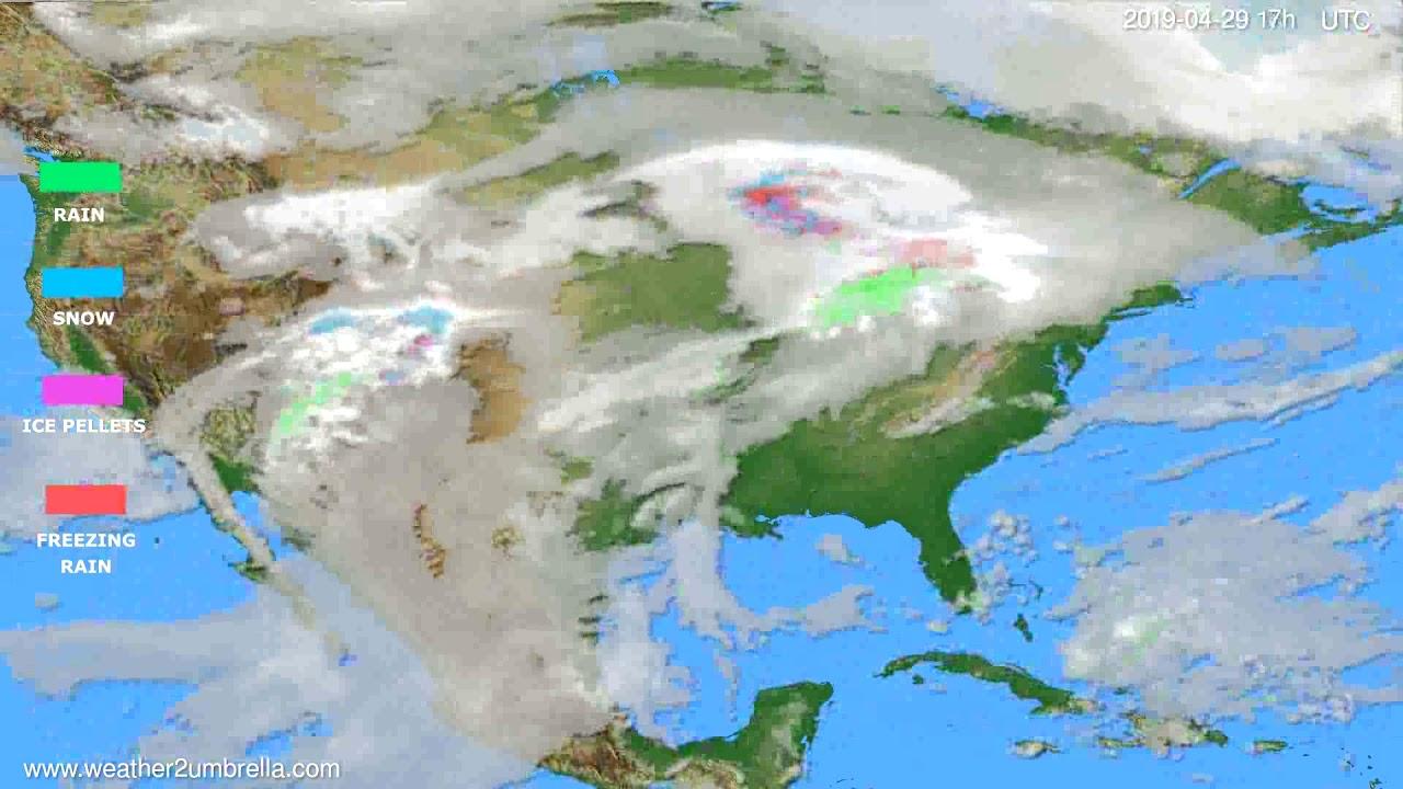 Precipitation forecast USA & Canada // modelrun: 00h UTC 2019-04-28