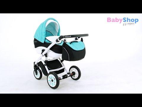 Kombikinderwagen Unico 3in1 - weisse Linie Babywanne, Buggy, Autositz