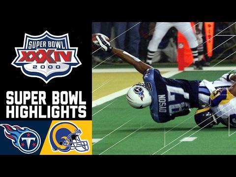 Super Bowl XXXIV Recap: Rams vs. Titans   NFL
