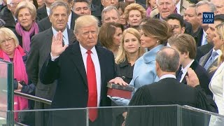 President-Elect Donald J. Trump and Vice President-Elect Michael R. Pence are sworn in to office on the west front of the United States Capitol.