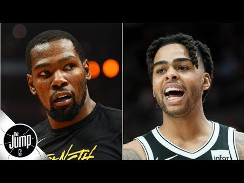 Video: Kevin Durant wouldn't agree to D'Angelo Russell trade straight-up - Brian Windhorst | The Jump