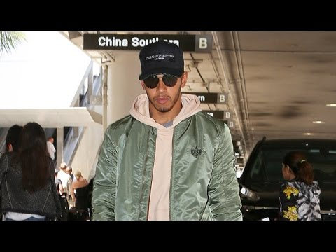 Lewis Hamilton Is Asked About Brexit As He Shows Up At LAX Overdressed For LA Heat