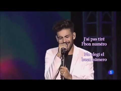 """Agoney canta """"S.O.S. d'un terrien en détresse"""" (video de la 1 de TVE) letra y subtitulado en Español"""