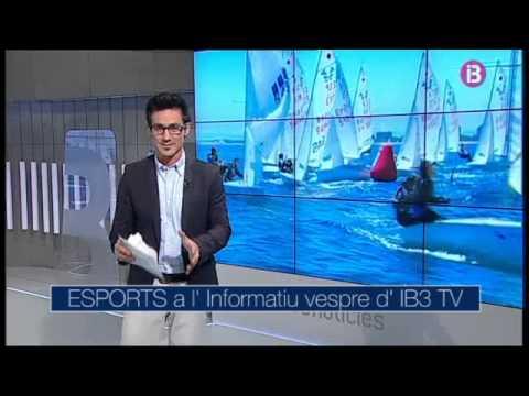 Noticia a IB3 TV de Xavi Antich y Pedro Terrones Campions del món de 420