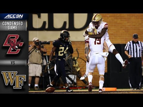 Boston College vs. Wake Forest Condensed Game | 2018 ACC Football