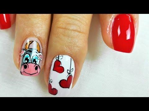 decoracion de uñas vacas - decoracion de uñas vaquitas - decoracion de uñas animales