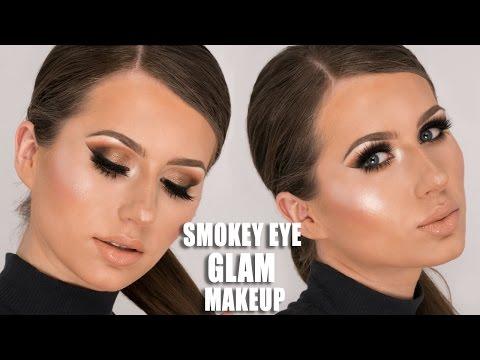 Smokey Eye Glam Makeup Tutorial   Morphe 35O Tutorial