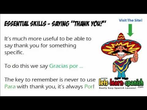 "Different Ways To Say ""Thank You"" In Spanish"