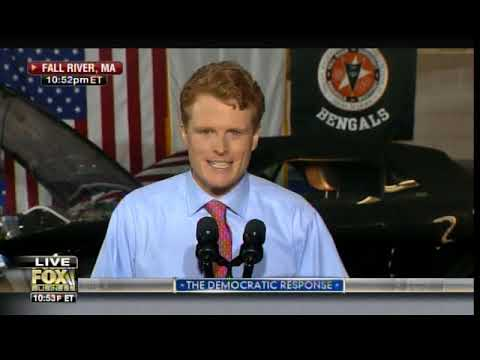 Gross. Joe Kennedy Slobbers Down the Side of His Face During Democratic SOTU Response