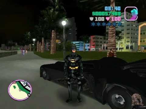 Gta Vice City Batman Batmobil Gta Sa Batman Cape Mod