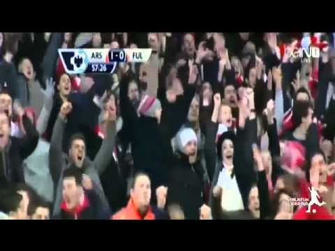 All Goals Arsenal vs Fulham 2 0   Fulham vs Arsenal HighLights 18 01 2014 HD1