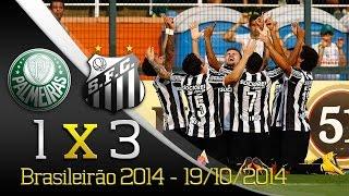O Santos FC venceu por 3 a 1, o Palmeiras, com gols de Gabriel (2) e Geuvânio marcaram para o Santos, no Estádio do...