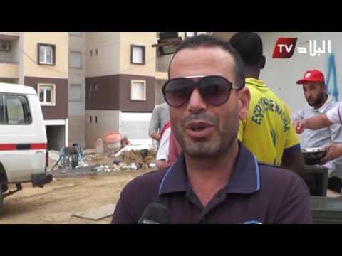 الهلال الأحمر الجزائري في البويرة: وجبات إفطار لعشرات اللاجئين الأفارقة