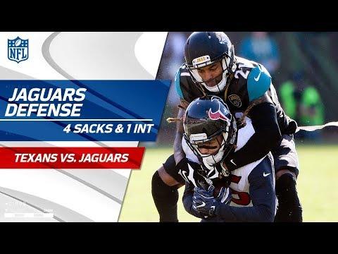 Video: Jaguars Defense Racks Up 4 Sacks & 1 INT! | Texans vs. Jaguars | Wk 15 Player Highlights
