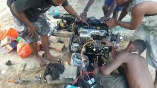 (Simple Auto) Nissan navara QD32 engine rebuilt and started.