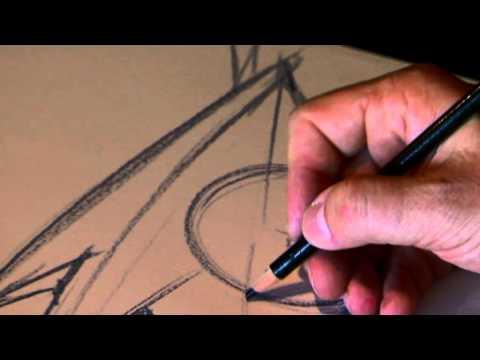 Filippo Perini - Il responsabile del centro stile Lamborghini spiega le scelte formali e stilistiche della nuova Aventador, disegnando al contempo un bozzetto della supercar ...