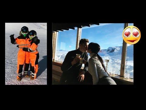 Baiser Romantique de Cristiano Ronaldo & Georgina Rodriguez au Ski