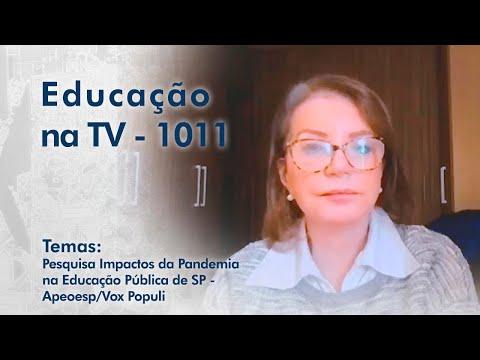 Pesquisa Impactos da Pandemia na Educação Pública do Estado de São Paulo - APEOESP/Vox Populi