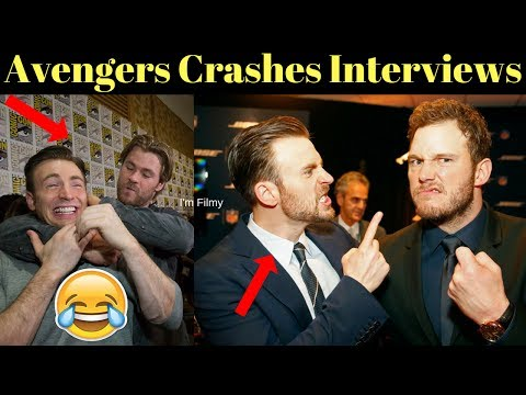 Avengers 4: Endgame Cast Crashes Interview - Unseen Funny Moments - 2017
