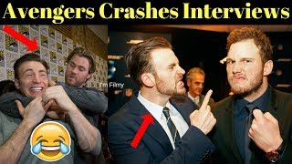 Video Avengers Infinity War Cast Crashes Interview - Unseen Funny Moments - 2017 MP3, 3GP, MP4, WEBM, AVI, FLV Juli 2018