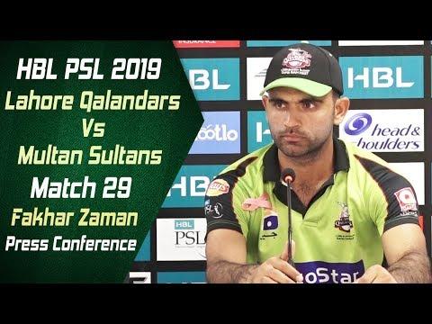 Match 29 - Post Match Press Conference: Lahore Qalandars Vs Multan Sultans | Fakhar Zaman - Thời lượng: 12 phút.